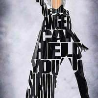 X-Men Inspired Storm Typographic Print and Poster
