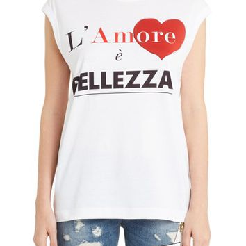 Dolce&Gabbana Amore Graphic Tank Top | Nordstrom