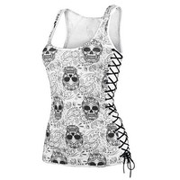Skull Head Design Tops