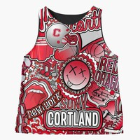 'Cortland Collage' Contrast Tank by Kt Farello Designs