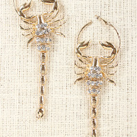 Scorpion Stare Hoop Earrings