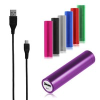 Chromo Inc.® 2600mAh Lipstick Power Bank External Battery Charger - Royal Purple