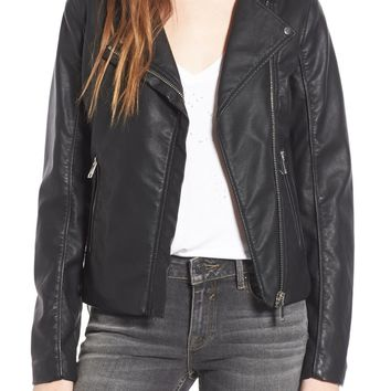 Thread & Supply Big City Faux Leather Moto Jacket | Nordstrom