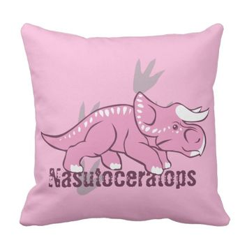 Cute Nasutoceratops Throw Pillow