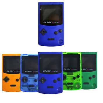 """2.7"""" GB Boy Classic Color Colour Handheld Game Console Game Player with Backlit 66 Built-in Games Juegos Mando Blue Green"""