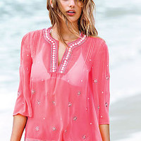 Embellished V-neck Blouse - Victoria's Secret