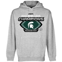 Michigan State Spartans 2014 Rose Bowl Champions Techno Hoodie - Ash