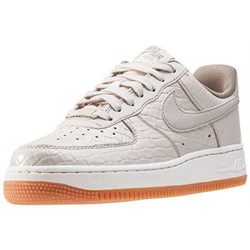 NIKE Women's Air Force 1 '07 PRM Sneakers Shoes-Oatmeal/Oatmeal-Khaki-Sail