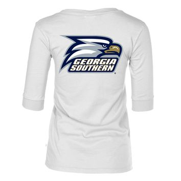 Official NCAA Georgia Southern Eagles - Women's 3/4 Sleeve Football Jersey