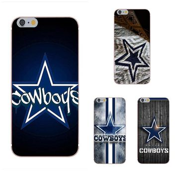 For Apple iPhone 4 4S 5 5C 5S SE 6 6S 7 8 Plus X Soft Silicone TPU Transparent Fashion Cell Phone Case Cover Dallas Cowboys