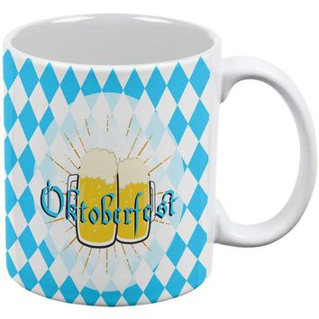 DCCKU3R Oktobefest Mug Blue Flag German Beer All Over Coffee Mug
