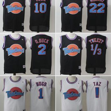Movie Space Jam Tune Squad Jersey Men's 23 Michael 1 Bugs 10 Lola 1/3 Tweety 22 Murray Shirt Embroidery basketball Jersey S-XXL