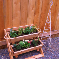 """2 18"""" large planters for raised bed vegetable garden for herb, tomato, flower, and strawberry gardening - Free Shipping"""