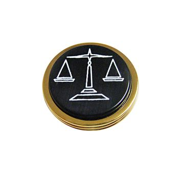 Golden Scale of Justice Magnet