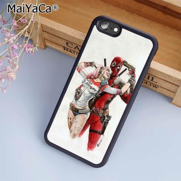 MaiYaCa Deadpool and Harley Quinn Phone Case Cover For iPhone 4 5 5s SE 6 6s 7 8 plus 10 X Samsung Galaxy S6 S7 S8 edge note 8
