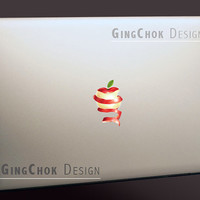Macbook laptop decal, Mac decal, Red apple vinyl sticker, Macbook sticker, Mac sticker, Laptop decal, Macbook pro decal, Macbook air sticker