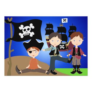 Party Pirates Kids Pirate Birthday Invitation