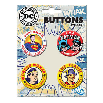 Vintage DC Comics Button Set