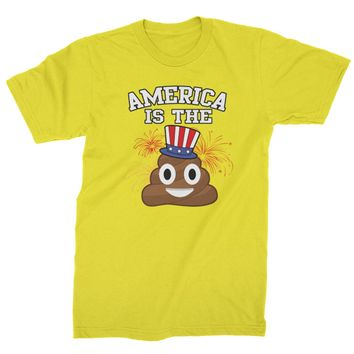 America Is The Poop Emoticon Mens T-shirt