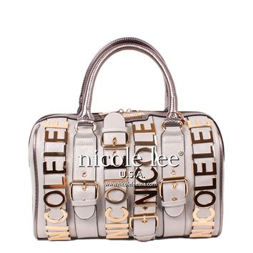 ALICE BELT EMBELLISH BOSTON BAG - NEW ARRIVALS