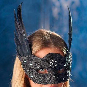 Glam Beaded Mask | Grandin Road