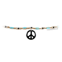 Wood Hemp Peace Necklace on Sale for $5.99 at HippieShop.com