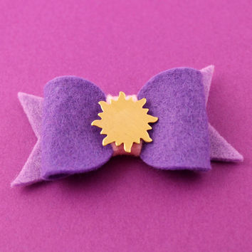Rapunzel Hair Bow - Felt Hair Bow - Disney's Tanged Inspired