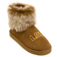 LSU Tigers Faux-Fur Bootie Slippers