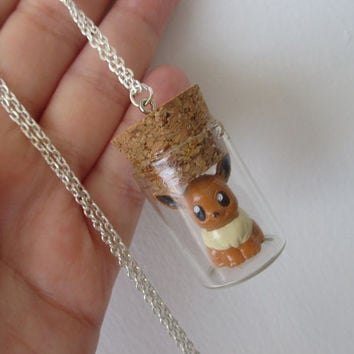 Pokémon Necklace - EEVEE - Pokemon bottle jewelry - Pokemon Trainer Gear!