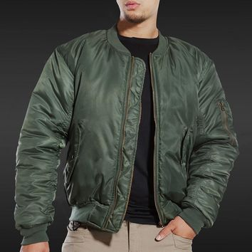 MA1 BOMBER JACKET Men Winter Army Air Force Pilot Fly Tactical Jacket Military Airborne Flight Warm Aviator Motorcycle Down Male