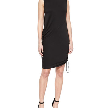Nadia Asymmetric Draped Dress, Size: