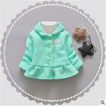 2017 autumn new children's clothing Korean girls girl clouds pure color sweater girls long-sleeved jacket fashion cute