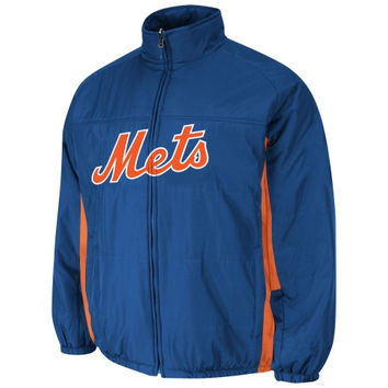 Majestic New York Mets Ladies AC Double Climate Full Zip Jacket - Royal Blue