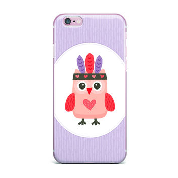 """Daisy Beatrice """"Hipster Owlet"""" Purple iPhone Case"""
