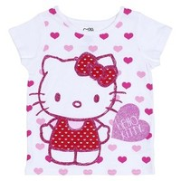 Hello Kitty™ Infant Toddler Girls' Short-sleeve Tee - White