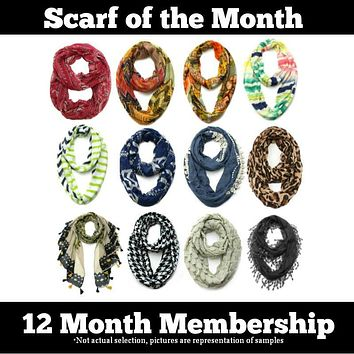 Scarf of the Month - 12 Month Gift Subscription Package