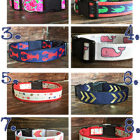 Free embroidery! Personalized dog collar with name and number