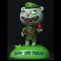 "SEG Toys 2004 Happy Tree Friends SDCC Flippy Carve Your Heart Out Ver 6"" Vinyl Figure"