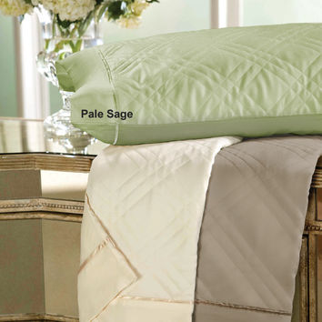 "Quilted Bamboo ""Sleep Cool"" Pillowcases in Sand by Dreamfit"