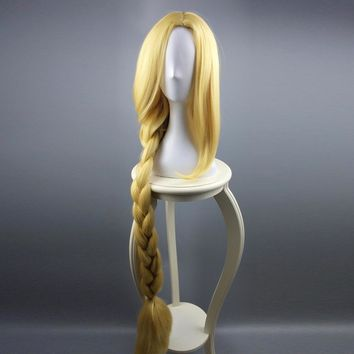 Tangled Princess Rapunzel Cosplay Adult Womens Long Braids Blonde 120cm Extra Long Hair Halloween Carnival Costume Accessories