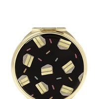 Floral Print Compact Mirror