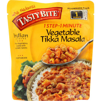 Tasty Bite Entree - Indian Cuisine - Vegetable Tikka Masala - 10 oz - case of 6