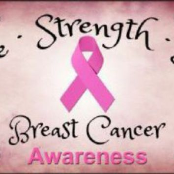 Hope Strength Love Breast Cancer Awareness  License Plate