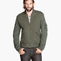 Quilted Sweatshirt Jacket - from H&M