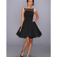 Unique Vintage Mesh Lattice Neckline Swing Dress Black - Zappos.com Free Shipping BOTH Ways