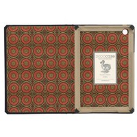Geometric Floral in Red and Gold iPad Mini Case