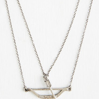 Boho Signed, Sealed, and Quivered Necklace in Silver by ModCloth