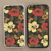 Floral Pattern iPhone Case, iPhone 5 Case, iPhone 4S Case, iPhone 4 Case - SKU: 152