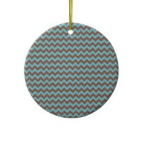 Chevron Blue Curacao And Coffee Brown from Zazzle.com