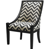 Black Chevron Carnegie Chair